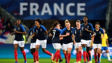 Équipe de France de football féminin.