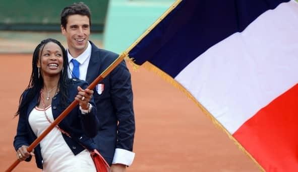Porte drapeau équipe de France