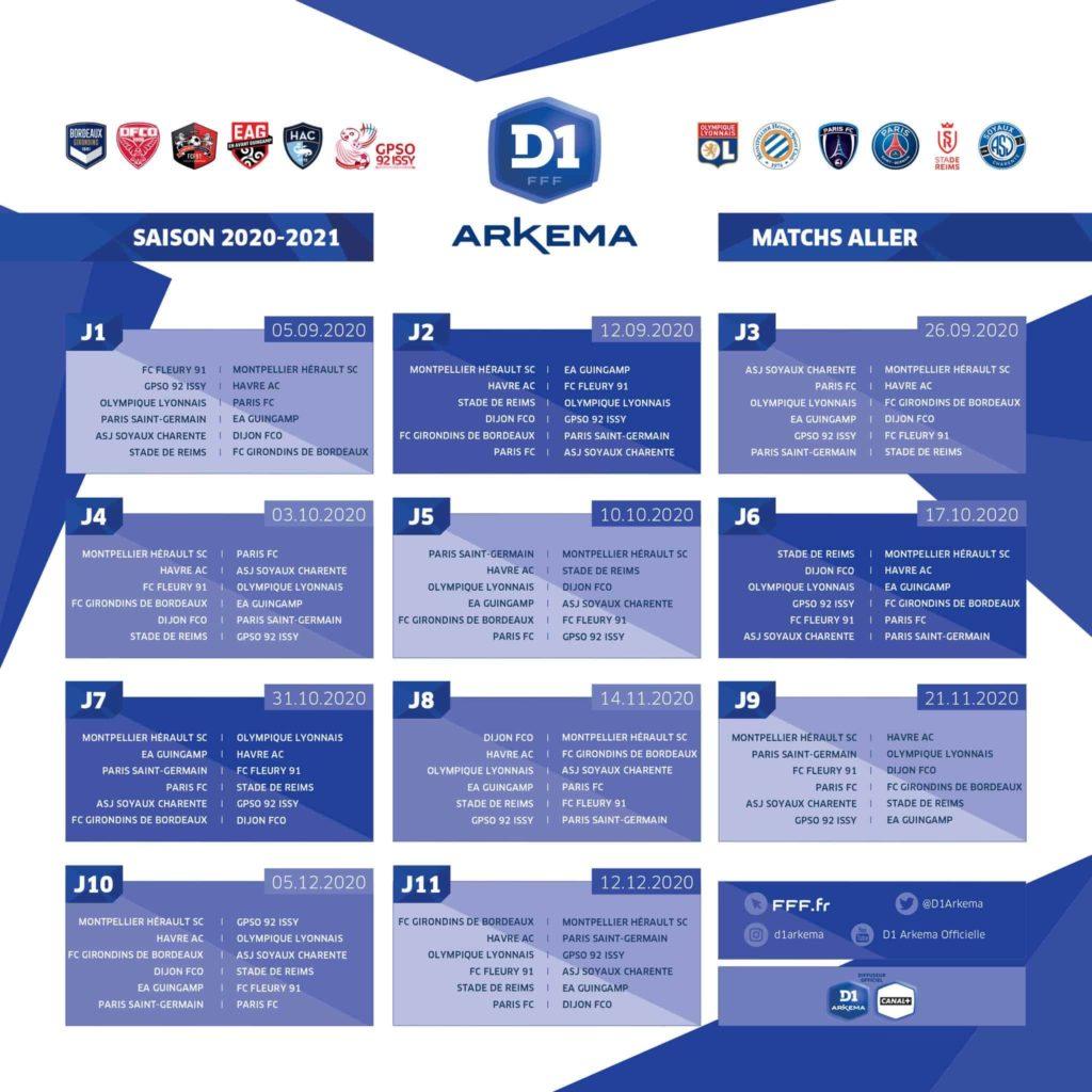 D1 Arkema : Le calendrier de la saison 2020 2021 dévoilé – Le
