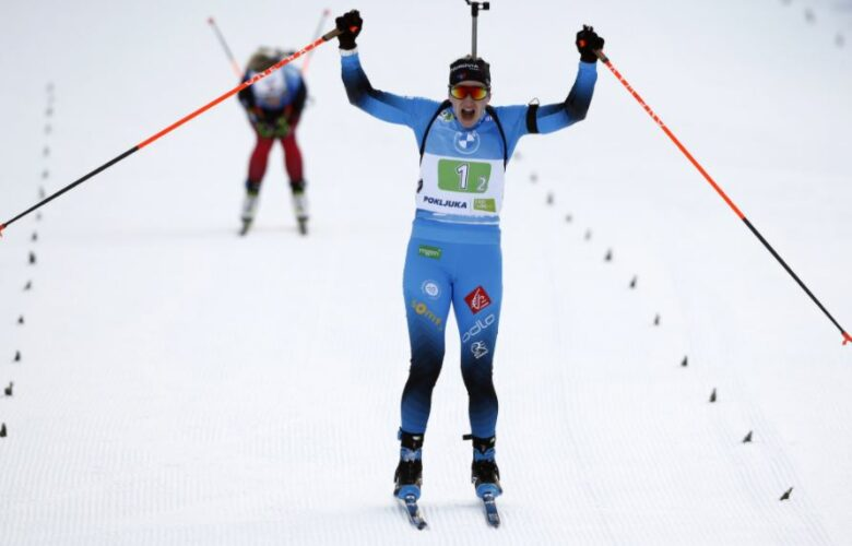 Julia Simon Titre mondial relais mixte