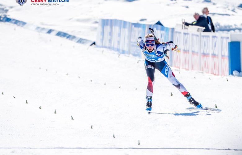 Marketa Davidova Biathlon médaille or