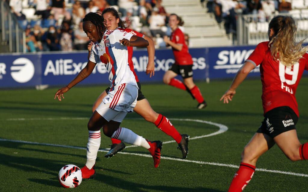 Melvine Malard a inscrit 7 buts toutes compétitions confondues avec l'OL Féminin cette saison (@OLFéminin)